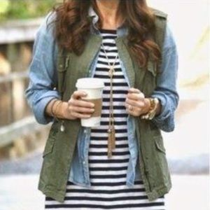 J. Crew Weathered Chino Utility Vest Jacket